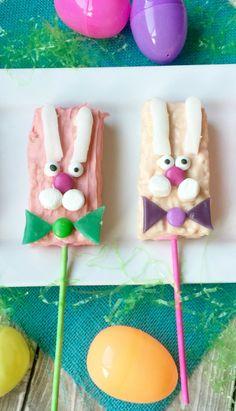 Bunny Easter Rice Krispie Treats