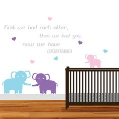 Vinyl Wall Decals, Elephant Family Decals, Family Wall Decals, Mom and Me, Nursery Wall Decals, Nursery Art