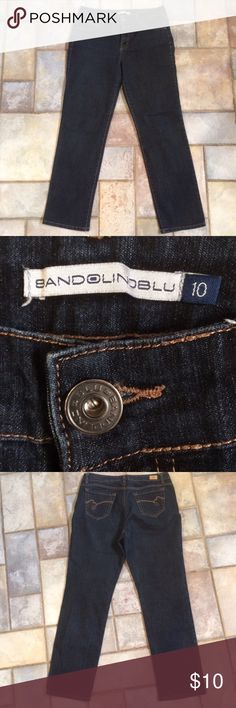 "Dark Rinse Classic Fit Jeans 29.75"" inseam.  Dark Rinse. Worn twice. Zip fly with button. Bandolino Jeans Straight Leg"
