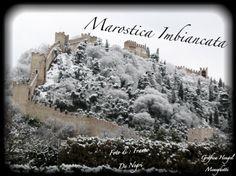 Marostica castello superiore innevato