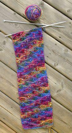 Einfach Drop Stitch Schal  kommerzielle Nutzung Muster