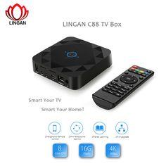 Original LINGAN C88 Android 6.0 TV BOX Octa Core 2G 16G Smart TV Box 4K HD Set-top Box WIFI BT with IR Remote Controller PK A95X //Price: $81.41//     #gadgets