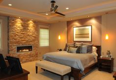 Fire place in the master bedroom for those cold winter nights!