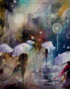 Peinture - medium Aquarelle - Francine Bouchard
