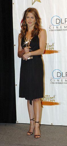 Jennifer Aniston Strappy Sandals - Jennifer really loves barely-there heels.
