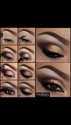 Gold Eyeshadow Idea ❤