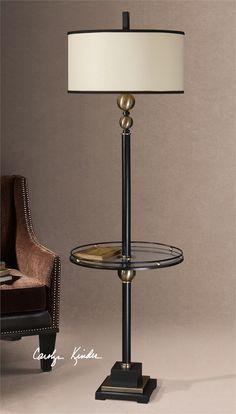Uttermost Revolution End Table Floor Lamp