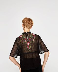 ZARA BLOGGERS PAISLEY FLORAL PRINTED BLOUSE WITH METALLIC THREAD SWING BOHO TOP