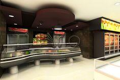 طراحی و تجهیز فروشگاه زنجیره ای حامی- ولنجک ارائه قفسه بندی و یخچال و فریزر فروشگاهی