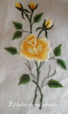 Grand Sewing Embroidery Designs At Home Ideas. Beauteous Finished Sewing Embroidery Designs At Home Ideas. Hand Embroidery Flowers, Flower Embroidery Designs, Creative Embroidery, Hand Embroidery Stitches, Silk Ribbon Embroidery, Crewel Embroidery, Cross Stitch Embroidery, Machine Embroidery Designs, Broderie Bargello