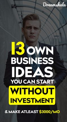 Business Ideas Discover 13 own business ideas you can start without investment. Do you want to start a business online? Check the list of 20 smart & easy ideas to start a business without any investment. Ways To Earn Money, Earn Money From Home, Earn Money Online, Online Jobs, Way To Make Money, Money Tips, Tips Online, Money Fast, Own Business Ideas