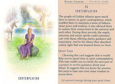 Today's Atlantis Card – Diana Cooper Diana Cooper, Daily Tarot, Star Children, Angel Cards, Bible Knowledge, Oracle Cards, Past Life, Atlantis, Tarot Cards