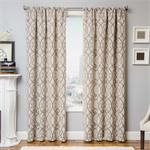 "Azure Scroll Curtain Panel available in 6 color choices: 108"" inch curtains 