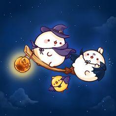No photo description available. Chibi Kawaii, Cute Chibi, Kawaii Art, Cute Halloween Drawings, Kawaii Halloween, Cute Kawaii Drawings, Cute Animal Drawings, Images Kawaii, Bunny Drawing