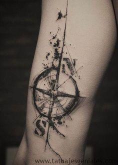 60 Tatuajes de Brújulas | Significados e Imágenes