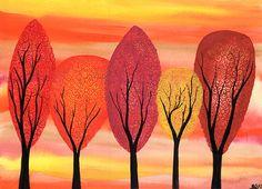 Automne doré  aquarelle originale peinture sur par klbaileyART Arches Watercolor Paper, Watercolor Paintings, Classe D'art, Fall Art Projects, Watercolor Christmas Cards, Autumn Art, Art Classroom, Art Plastique, Elementary Art