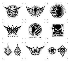 Heavy Vector: UI SCI-FI VECTOR Graphic Design Trends, Logo Design Inspiration, Icon Design, Team Logo Design, Badge Design, Action Icon, Geometric Font, Sun Logo, Game Logo