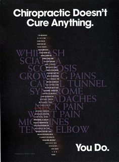Chiropractic Care Doesn't Cure Anything ... You do.