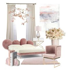 Pink & Fluffy by celine-eden on Polyvore featuring polyvore, interior, interiors, interior design, home, home decor, interior decorating, Safavieh, Canopy Designs and Catalina