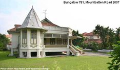 mansions and villas of the past - 781 mountbatten road - Marin Youhouse Lee Abandoned Houses, Abandoned Places, Colonial Architecture, Architecture Design, History Of Singapore, British Colonial, White Houses, Bungalow, Gazebo