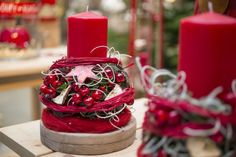 All Details You Need to Know About Home Decoration - Modern Christmas Images, Christmas Crafts, Xmas, Christmas Ornaments, New Years Decorations, Christmas Decorations, Table Decorations, Red Candles, Pillar Candles