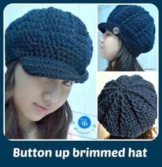 Button up brimmed hat