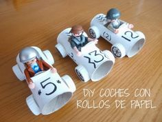 Coches con rollo papel higienico paper roll cars