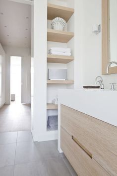 Teds Wood Working - Teds Wood Working - niche cloison Get A Lifetime Of Project Ideas Inspiration! - Get A Lifetime Of Project Ideas & Inspiration! Wood Bathroom, Laundry In Bathroom, Bathroom Shelves, Small Bathroom, Bathroom Ideas, Bathroom Niche, Shelf Wall, Bathroom Storage, Bad Inspiration