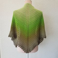 """MY PRESIOUS SHAWL YARN: I have used one """"cake"""" of Scheepjes Whirl, Pistachi oh so nice nr 761. One """"cake"""" contains 1000m and have a weight of ca 200g. You can of course u…"""