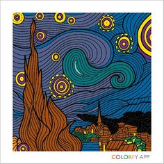 Famous-Starry Night-Leonardo Davinci