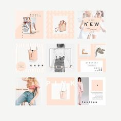 Soft Collection Pack Social Media By Lovestylecomu Social Media Branding, Social Media Banner, Social Media Design, Social Media Graphics, Social Media Template, Story Instagram, Instagram Design, Instagram Feed, Free Instagram