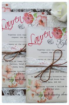 Looking for wedding stationery that is gorgeous, feminine, beautifully made and unique? Of course you are! These floral beauties from our Vintage Hibiscus range are also affordable on any budget! Hibiscus Wedding, Wedding Stationery, Wedding Invitations, Rustic Save The Dates, Small Envelopes, Belly Bands, Twine, Special Day