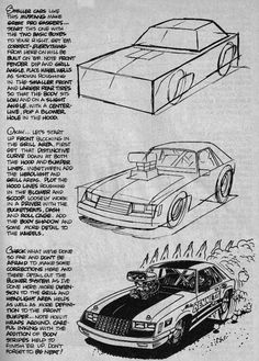 Resultado de imagem para george trosley How To Draw Cars cartoon Cool Car Drawings, Drawing Sketches, Sketching, Cartoons Magazine, Car Design Sketch, Car Sketch, Car Illustration, Automotive Art, Character Drawing