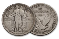 1917-P 25 Cent Standing Liberty VF - Quarter - Other U.S. Coins - U.S. Coins