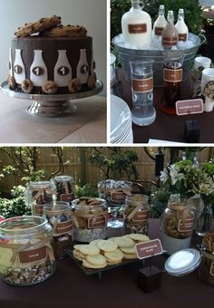 Dessert table - different kinds of cookies