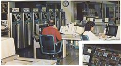 From our 1986 Annual Report: a picture of the room where the ALERT criminal justice information system computers serving the whole KC Metro area were located. And a close-up of a computer chip. Because that was a big deal.