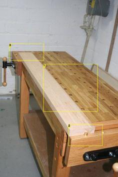 Diy benchdog table