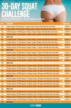 April Challenge: 30-Day Squat Challenge