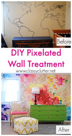 DIY Pixelated Wall from @Classy Clutter -amazing!!