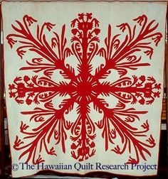 Lilia O Ke Awawa (Lily of the Valley)  Pre 1932  Hawaiian Quilt Research Project