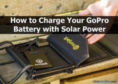 Charge you GoPro battery with SunJack solar panels. #gopro #goproaccessories #goproideas