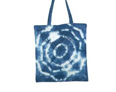 Hand Dyed Shibori Tote Bag by NicoleVertina on Etsy Tie Dye Designs, Shibori, Indigo, Reusable Tote Bags, Trending Outfits, Unique Jewelry, Handmade Gifts, Totes, Shops