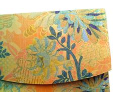 4 Yellow Floral Small Envelope for Business and by BrisCraftyShop, $6.00