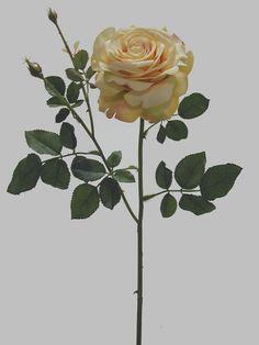 Linda rosa amarela, com 1 botão aberto grande, qualidade extra | Referência: 1356700000352 | Altura: 68 cm | Composição: Tecido, Plástico e Arame