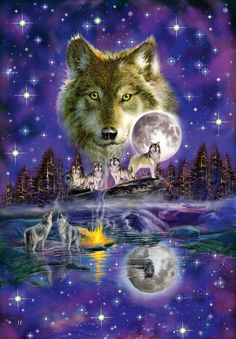 Schmidt Wolf in The Moonlight Premium Quality Jigsaw Puzzle (1000-Piece)…