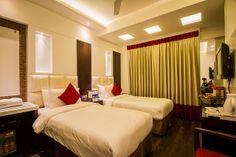 Twin Bedded Room in Hotel Grand Godwin New Delhi #hotelsindelhi  http://www.godwinhotels.com