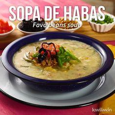 Esta deliciosa sopa de habas es perfecta para comer en casa y disfrutar de un platillo sencillo pero lleno de sabor. No dejes de probarla. Vegan Recipes Easy, Clean Recipes, Veggie Recipes, Mexican Food Recipes, Soup Recipes, Dinner Recipes, Cooking Recipes, Lebanese Soup Recipe, Lebanese Recipes