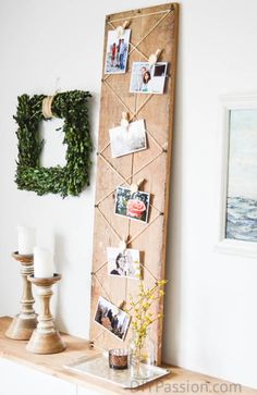 Rustic #diy Photo Display with Air Dry Clay #monthlydiychallenge