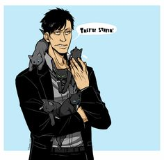 this man has massacred people so of course the most logical thing is to draw him with kittens based on this post Gangsta Anime, Deadman Wonderland, Black Lagoon, This Man, Cool Art, Awesome Art, Hero, Cosplay, People