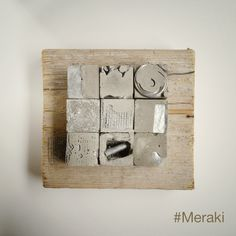 My Meraki - Reperti urbani 04.     Cemento, filo elettrico, rete metallica, vetro, legno da cassero. Cement Art, Concrete Art, Painting Collage, Oil Painting Abstract, Palette Art, Concrete Sculpture, Reclaimed Wood Art, Ceramic Wall Art, Encaustic Art